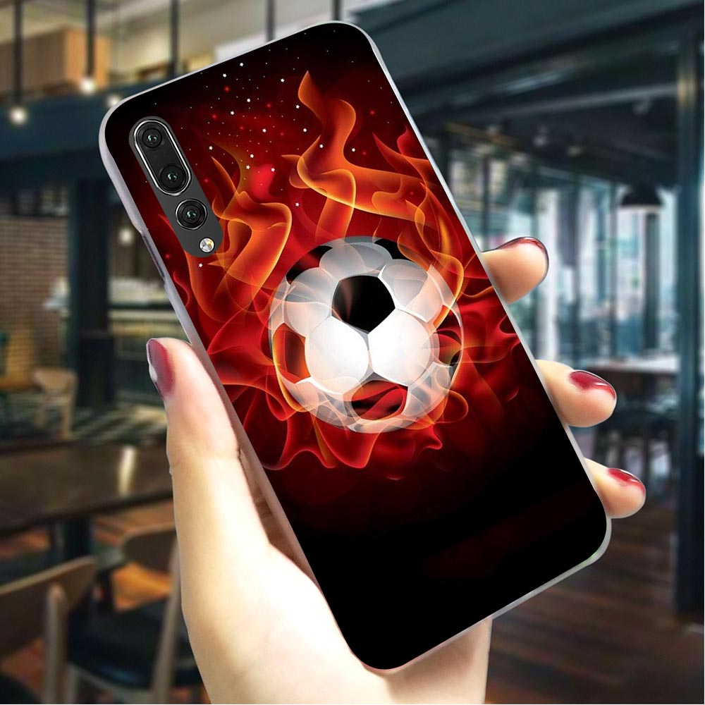 Soccer Football Hard Case for Huawei P9 Lite 2016 Protective Phone Cover for Huawei Mate 20 Pro P8 Lite 2017 P9 Lite 2016 in Fitted Cases from Cellphones Telecommunications