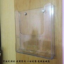 Держатель для письма органайзер для почты настенное крепление крючок акриловое украшение для дома и офиса