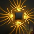 AC110V 220V Projection light 3x1W LED Wall lamp four side light Sconce LED Wall-Mounted Sconce Light indoor Decoration Light