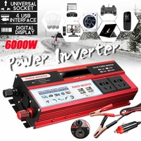 Car Inverter 12V 110V 6000W Pe ak Voltage Converter Transformer DC 12V/24V To AC 110V Power Inverter For Car Battery