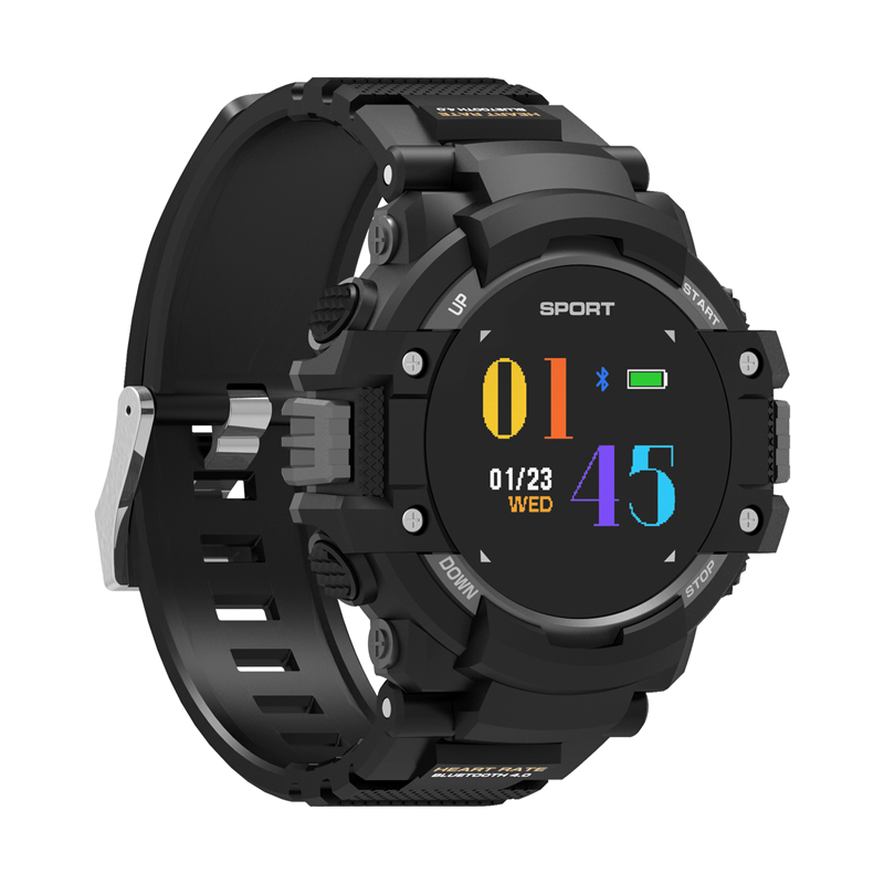 2018 F7 GPS Smart Watch Heart Rate Temperature Monitor Activity Tracker Bluetooth Altimeter Barometer Compass GPS Outdoors Watch