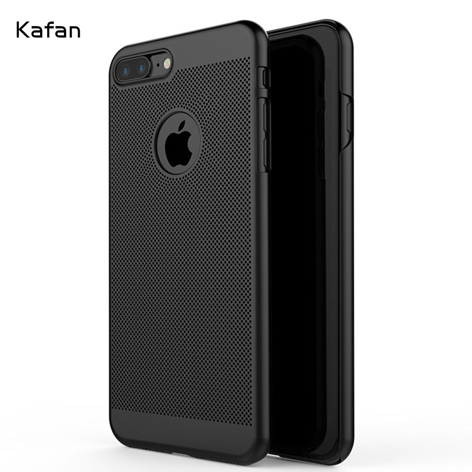 Heat Dissipation Mobile Phone Bags Cases for iphone X 8 8 plus Case Cute for iphone 7 7plus 6 6s 5 5s 5se Hard back Cover Shell