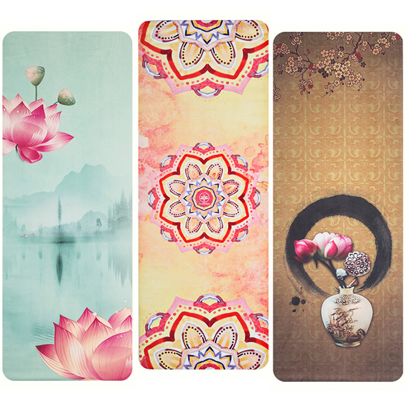 Lotus Suede Yoga Mat 183*68cm*1mm Urltra Light Portable Non Slip Public Yoga Mat Cover Soft Mat Outdoor Pilates Pad Exercise Pad yoga pilates mat pu 5mm for beginners and seniors widened workout yoga pilates gym exercise fitness gym mat