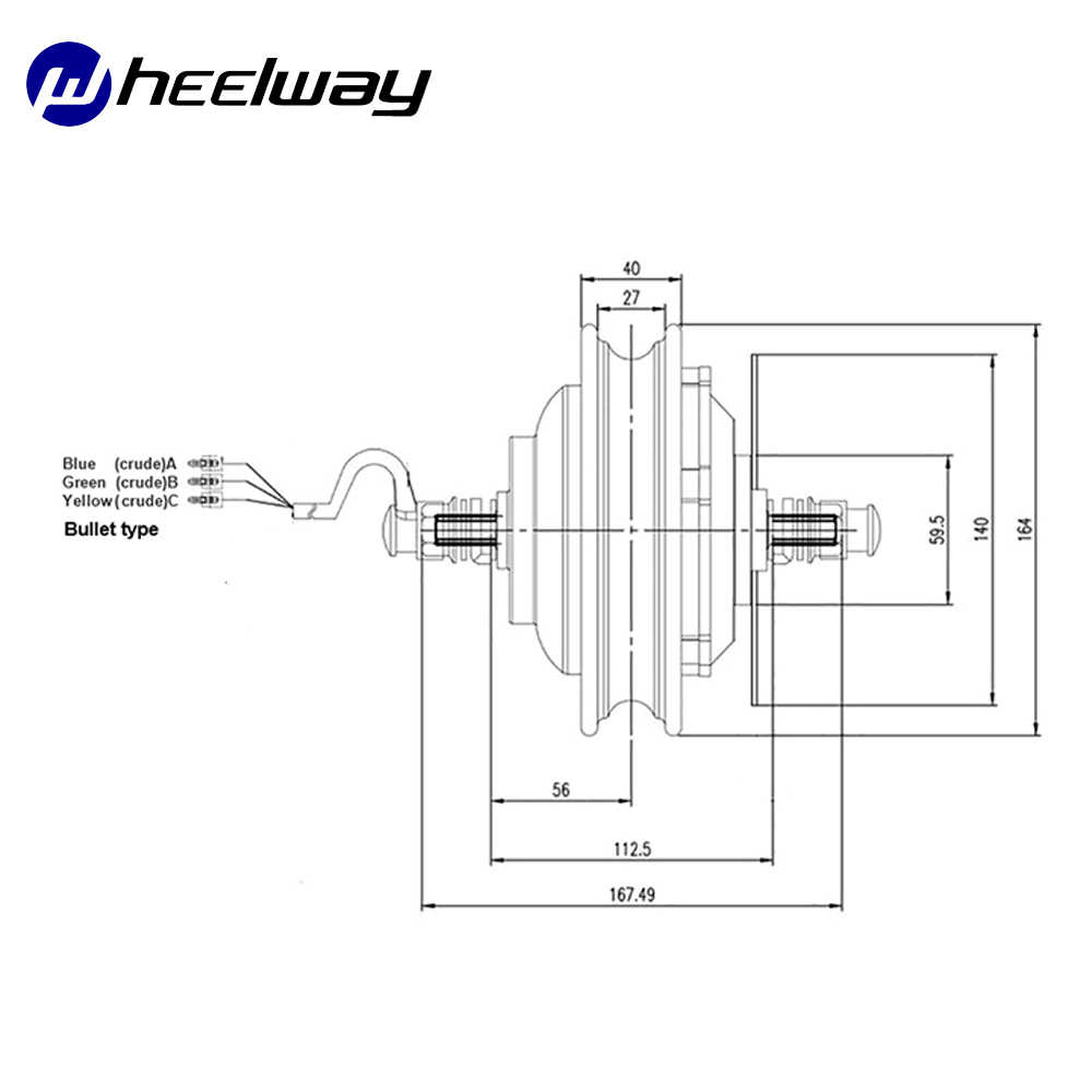 10 zoll 36V48V350W-1000W TX motor elektrische roller motor teile vakuum reifen geändert rad bürstenlosen motor set