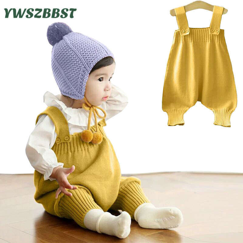Baby Girl Boy Winter Clothes Ruffle Knit Romper Sweater Jumpsuit Outfits Strik