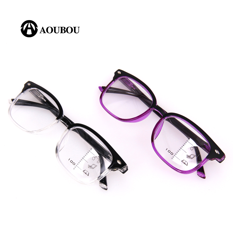 Image 2 - AOUBOU High Quality Unisex Progressive Multifocal Lens Reading Glasses Men Women Presbyopia Hyperopia Bifocal Eyeglasses A010-in Women's Reading Glasses from Apparel Accessories