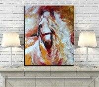 Sterke Paard Olieverfschilderij 100% Handgeschilderde Art Abstracte Moderne Paard Portret Mes Olieverfschilderij Voor Wanddecoratie