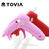 TOVIA Cordless Hot Melt Glue Gun 2200mAh Rechargeable USB Repair Pink Heat Gun Mini Portable DIY Craft Repair Home Power Tool