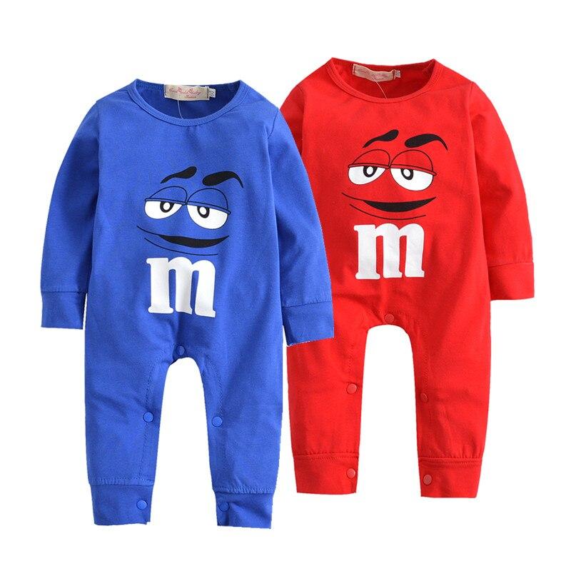 Novo 2019 outono bebê recém-nascido da menina do menino manga longa dos desenhos animados m feijão macacão de algodão roupas pijamas