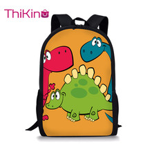 Thikin Cartoon Dinosaur Backpack for Teenager Boys School Bag Preschool Bookbag pupil Travel Shoulder Women Mochila