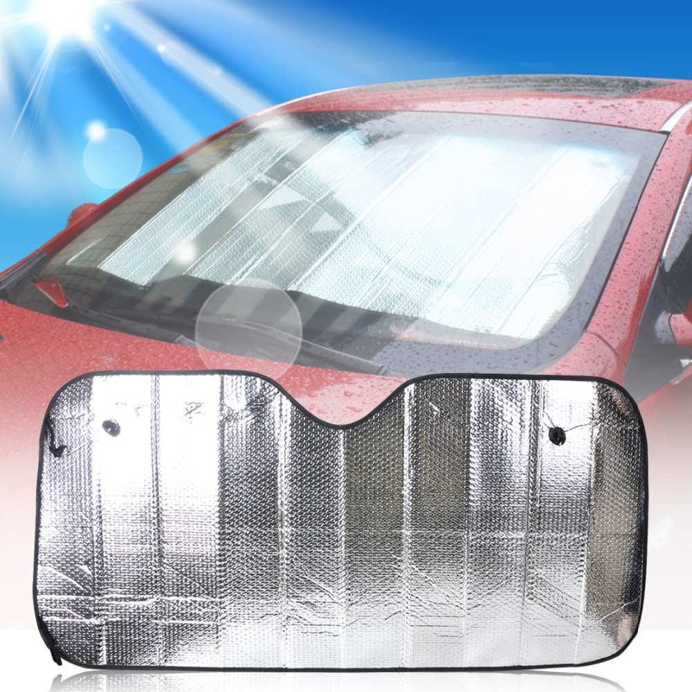 Car Foldable Sun Shade Visor Shield Rear Front Windshield Reflective Heat Cover Silver For BMW Audi Toyota Chevrolet Nissan VW