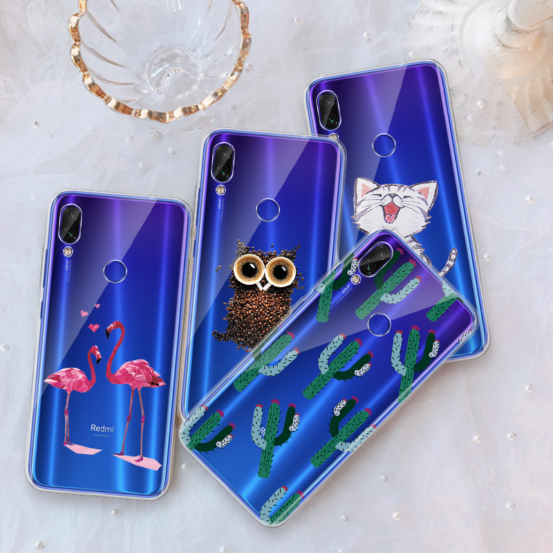 GerTong Pattern Phone Case For Xiaomi Mi 8 9 SE A1 A2 5X 6X Pocophone F1 Lovely Leaf Painted TPU Cover for Xiaomi Redmi 7 Capa image