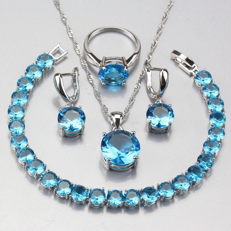 Round Sea Blue Crystal...