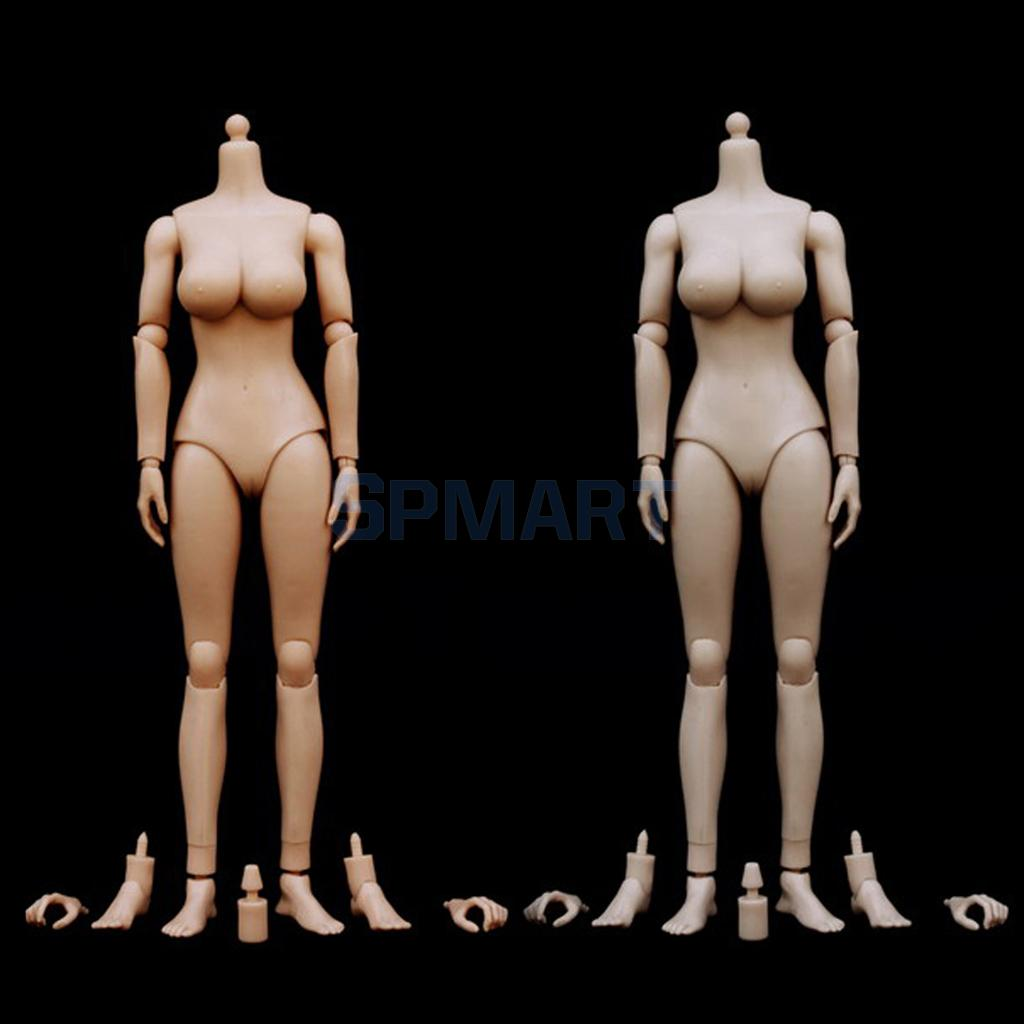 1:6 Scale Female Girl Nude Body Large Busts Model Toy for 12'' Action Figure Hot Toys Phicen Kumik Head Sculpt 1 6 stairs batman robin detective blake joseph gordon blake head sculpt carving for hot toys body for 12phicen action figure