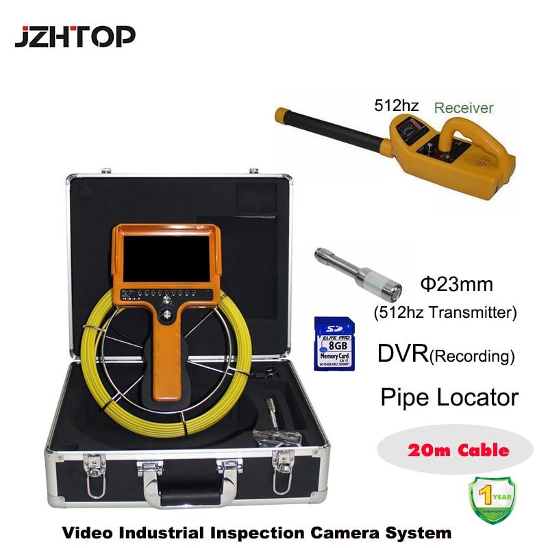 20m cable pipe locator endoscope pipeline snake camera inspection borescope