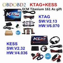 Full Set KESS V2.32 + KTAG V2.13 Master KESS V2 V4.036 OBDII Manager Tuning Kit No Tokens K-TAG K TAG V6.070 ECU Programmer Tool
