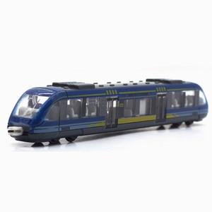 Diecast Car Toy Train Set Miniature Model Diecast 1:64 Die Cast Train Toys For Children Subway Simulation Train Plastic Wheel(China)