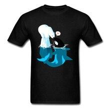Peaceful Killer Whale Bear Kiss Love Tshirt Save Ocean Sea Environment Men T Shirt Cute Graphic Animal Shark Sweet Funny Tees