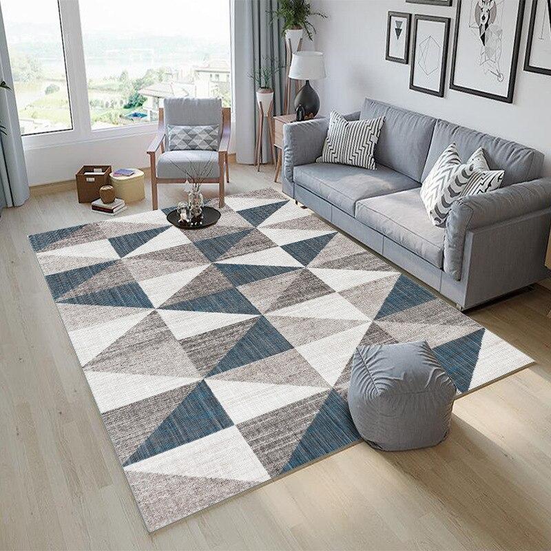 Moderne simplicité tapis pour salon chambre motif géométrique tapis maison tapis décoration anti-dérapant tapis chambre tapis