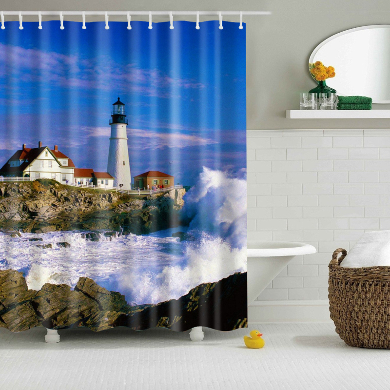 online buy wholesale lighthouse shower curtain from china
