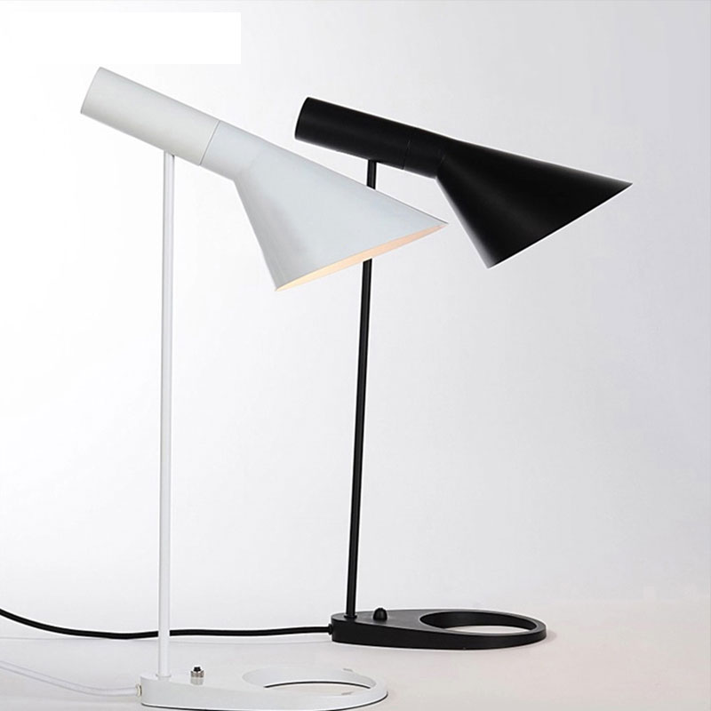 Modern Stylish LED Desk Lamp Light Fixture Reading Table Lamp white/black Simple Bedroom Bedside Decor Lighting