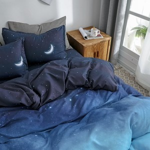 Image 4 - Starry Night Sky Bedding Sets Moon and Star Pattern Gradient Color Duvet Cover Set Bed Sheet Pillowcases for Boys Multi Size