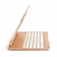 Portable Gold Wireless Keyboard With Protective Case Super Slim Aluminum Alloy For Ipad Pro 10 5