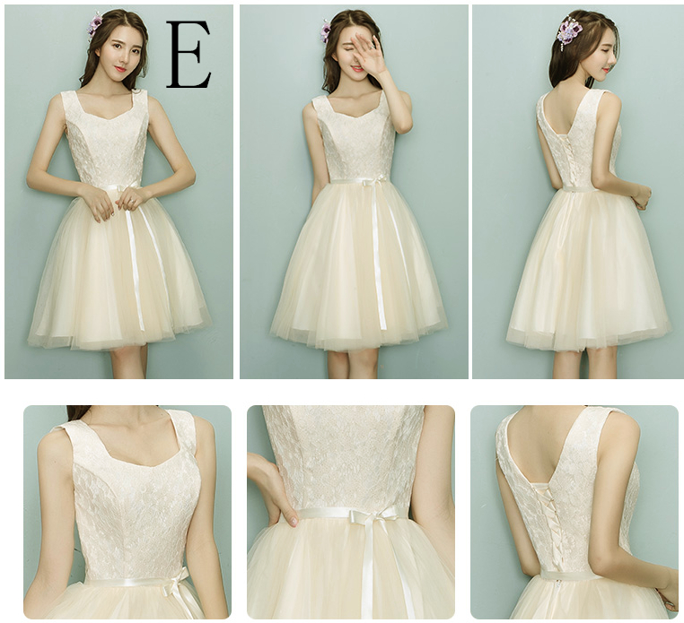 2017 champagne robe de soiree summer woman elegant short prom styles ...