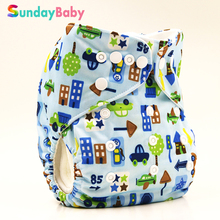 Washable baby cloth diaper pocket baby diaper cover with insert waterproof reusable baby cloth diaper