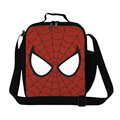 personalized cartoon lunch box children,spider man insulated lunch bags for men,cool boys thermal meal food shoulder picnic bag