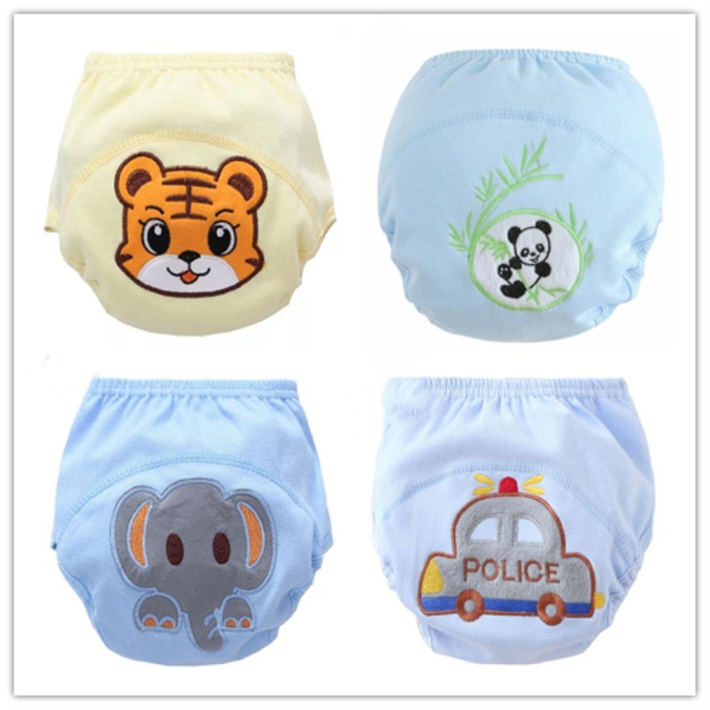 Free Shipping 4pc/lot  Baby Training Pant Underwear Cotton Learning/study Infant Urinate Pants  Suit 13-16kg