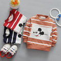 17 years of new spring children's wear long sleeved sweater striped T-shirt