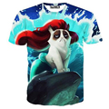 Горячие продаем летний стиль 3d футболка женщины/мужчины лето топы кошки просто хотят повеселиться отпечатано с коротким рукавом 3D футболка топ tee рубашки