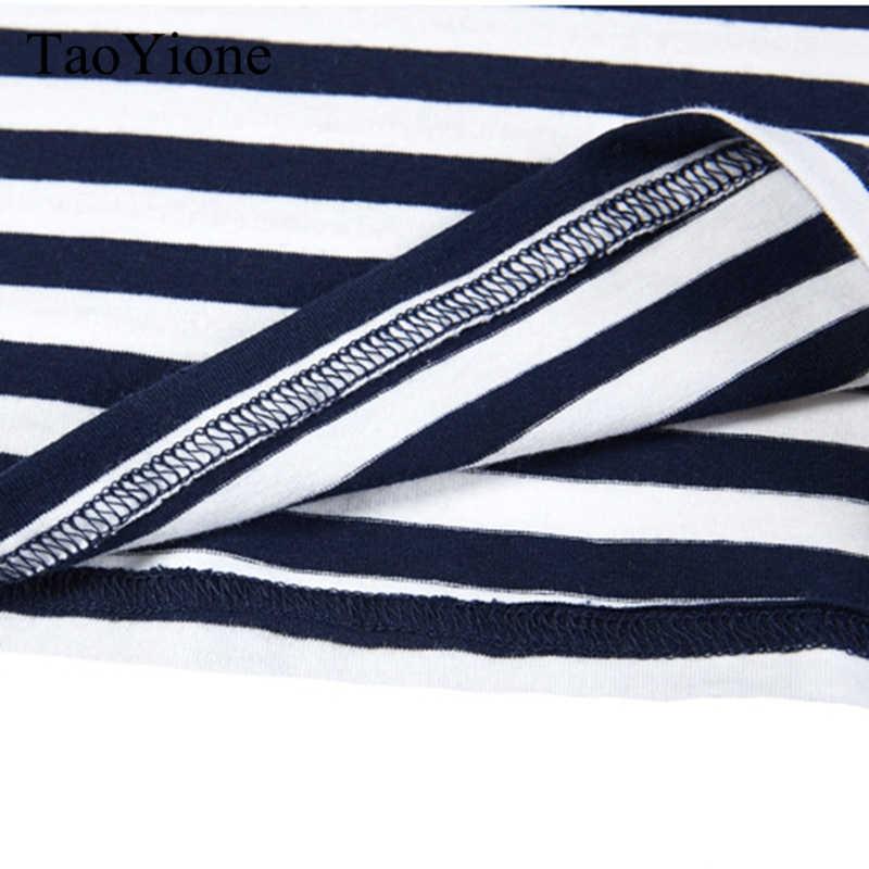 T Delle Donne Della Camicia 2019 di Estate T-Shirt Casual Magliette del Cotone delle Donne Top Signore Tee A Righe Bianco Nero Maglietta Camisetas Feminina