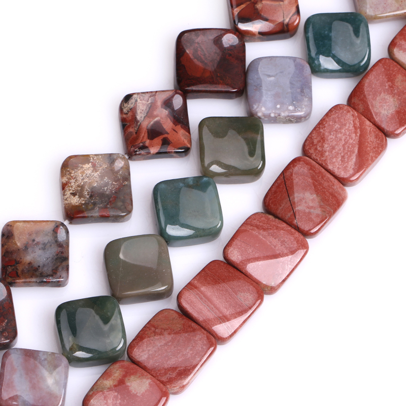 ee8f22c34fdf Natural Diagonal cuadrado India ágatas piedra perlas para joyería hacer DIY  joyería 15 pulgadas envío gratis Gem-inside