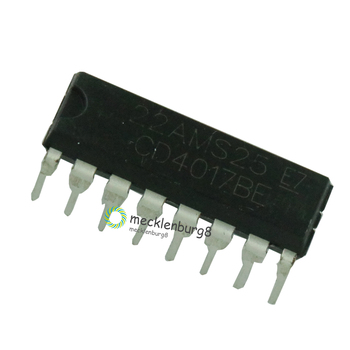 10pieces. CD4017 CD4017B CD4017BE 4017 decade counter divider IC image