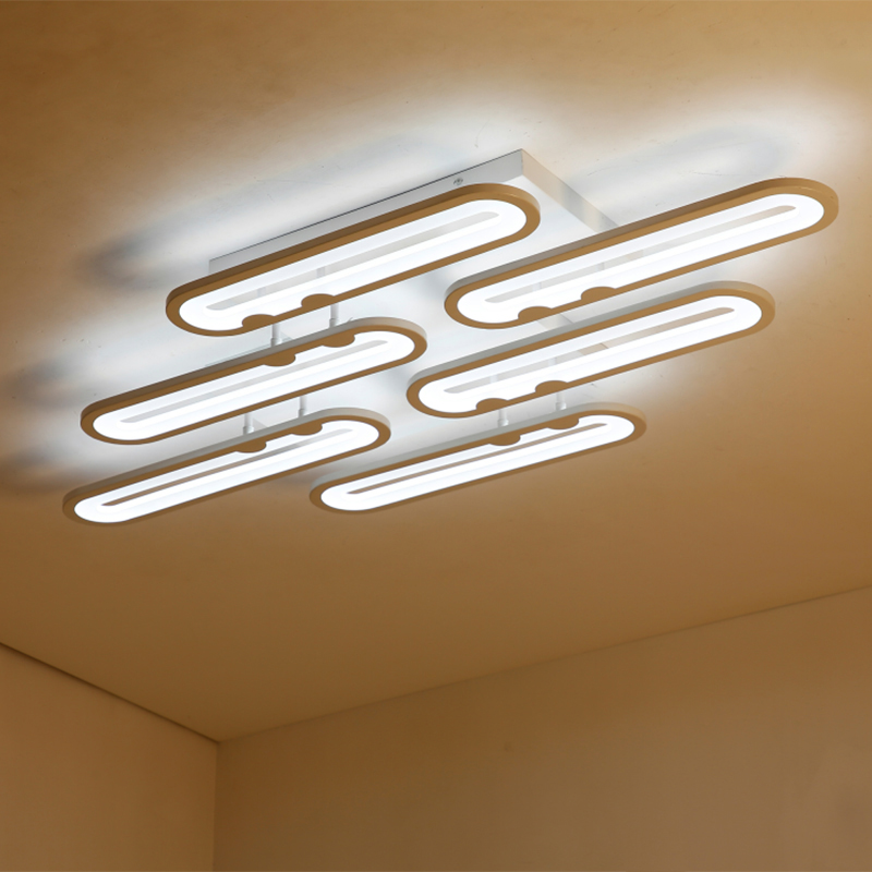 modern led ceiling chandelier lights for living room bedroom Dining Study Room White AC85-265V Chandeliers Fixtures noosion modern led ceiling lamp for bedroom room black and white color with crystal plafon techo iluminacion lustre de plafond