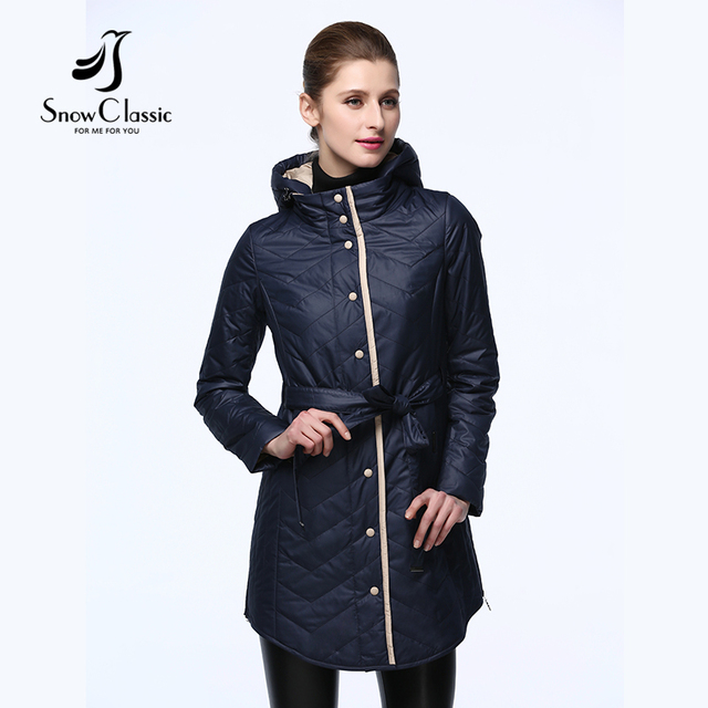 Snow Classic 2017 New Women Spring Autumn Jackets and coats Thin Cotton Female Coat Outerwear Clothes Women Parka 17307
