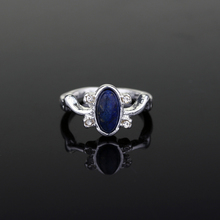 Vintage Vampire Diaries Rings Salvatore Stefan 's Finger Family Crest Ring Lapis Lazuli Ellipse Costume Ring Bohemian Wholesale