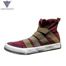 WEST SCARP Fashion Men Sneakers Spring Autumn Men Casual Shoes Male Canvas Shoes,High Top Hombre Sapatos Size 39-44