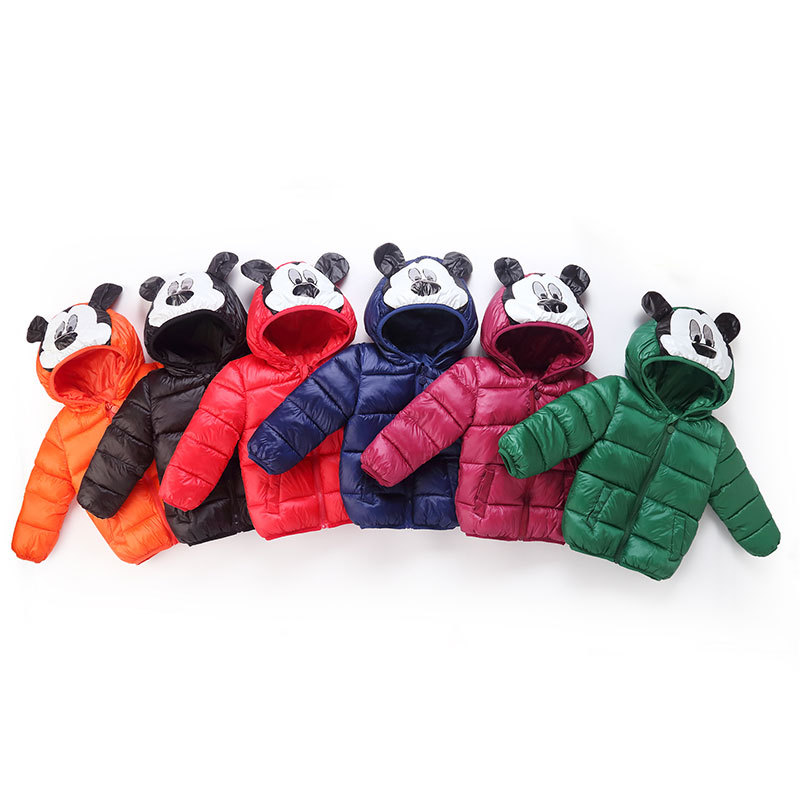 PINKWIN Winter Boys Girls Down Jackets For Children Hooded Cute Mickey Clothes Kids Coats Baby Clothes Outerwear Clothing 2-8Y (6)