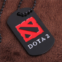 Dota2 collier colar masculino dog tag militaire neckless hommes collier colliers LN008