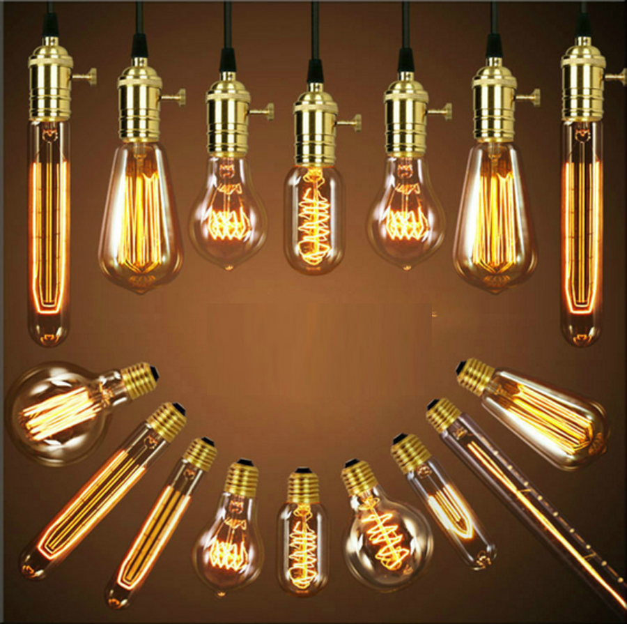 5PCS Retro Vintage Edison E27 LED Bulb ,ST64 40W Led  Filament Glass Light Lamp,  Warm White Energy Saving Lamps Light  AC220V 5pcs e27 led bulb 2w 4w 6w vintage cold white warm white edison lamp g45 led filament decorative bulb ac 220v 240v