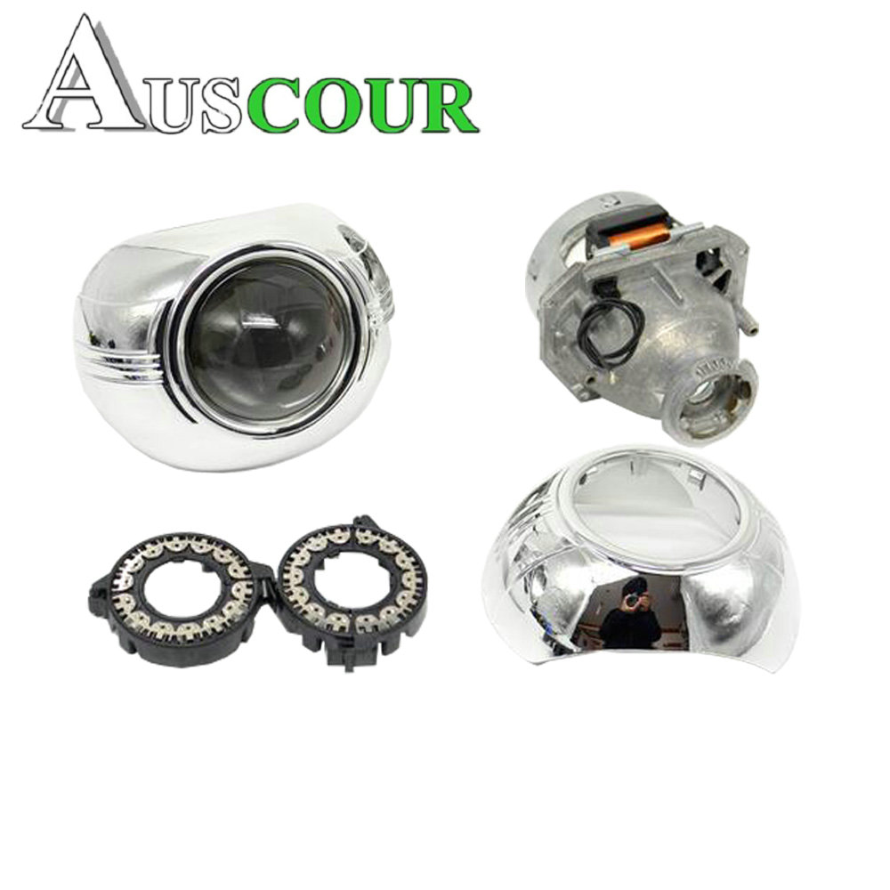 2pcs 3.0 inch hella 5 Bixenon hid Projector lens with mask shrouds cover car assembly kit 2 5inch bixenon projector lens headlight reflector car retrofit modify lens diy fit for with 3 0 inch dual angel eyes shrouds