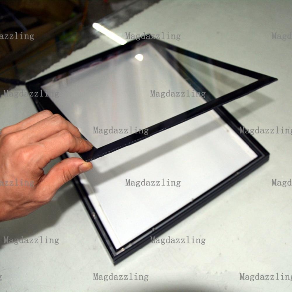Black Slimline Magnetic Aluminum Frame LED Edgelit Menu Boards A2 ...