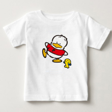 2018 cartoon little ducks children Tshirt cute boy and girl short sleeved clothes pekkle fish friend summer