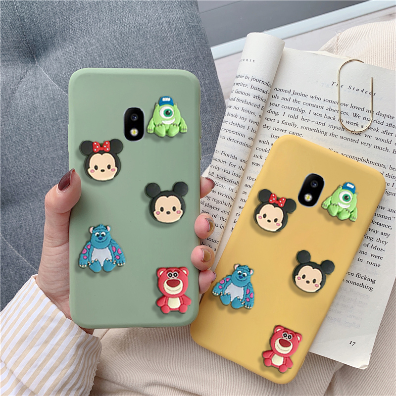 Matte 3D cartoon minnie fall für <font><b>Samsung</b></font> Galaxy j2 <font><b>j3</b></font> j4 j5 j6 j7 j8 pro plus prime core 2015 <font><b>2016</b></font> 2017 2018 <font><b>mickey</b></font> zurück abdeckung image