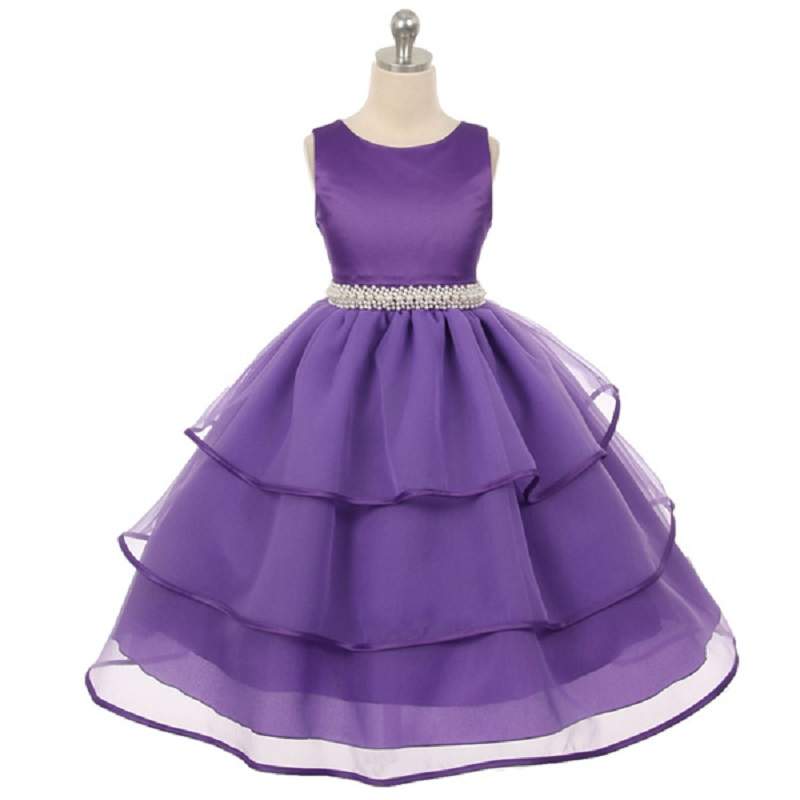 Buy flower girl dresses white with rose for Dresses for teenagers for weddings