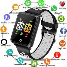 Купить с кэшбэком LIGE New Smart Watch Men Heart Rate Blood Pressure Monitor Fitness Tracker Fashion Smart Watch Pedometer Waterproof Sports Watch