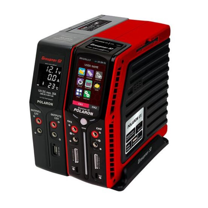 Graupner Polaron EX Combo Charger Red 7S 3 Color and Touch TFT arcadia spa ex red mountains 4 эйлат